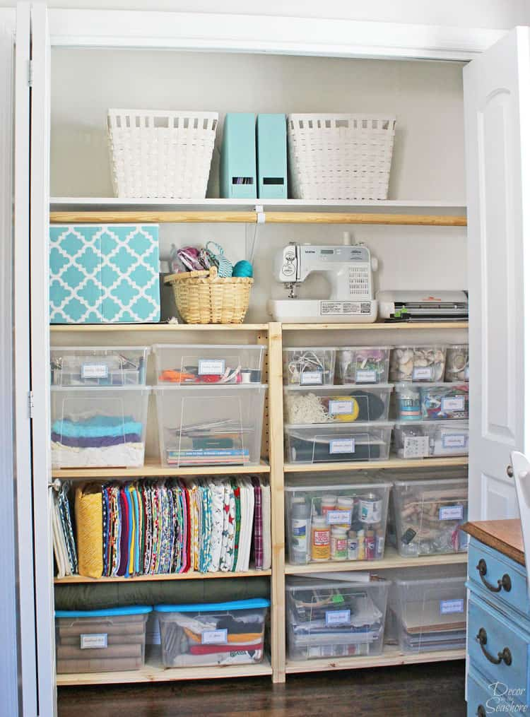 Cheap Easy Closet Organization With Ikea Ivar Shelves