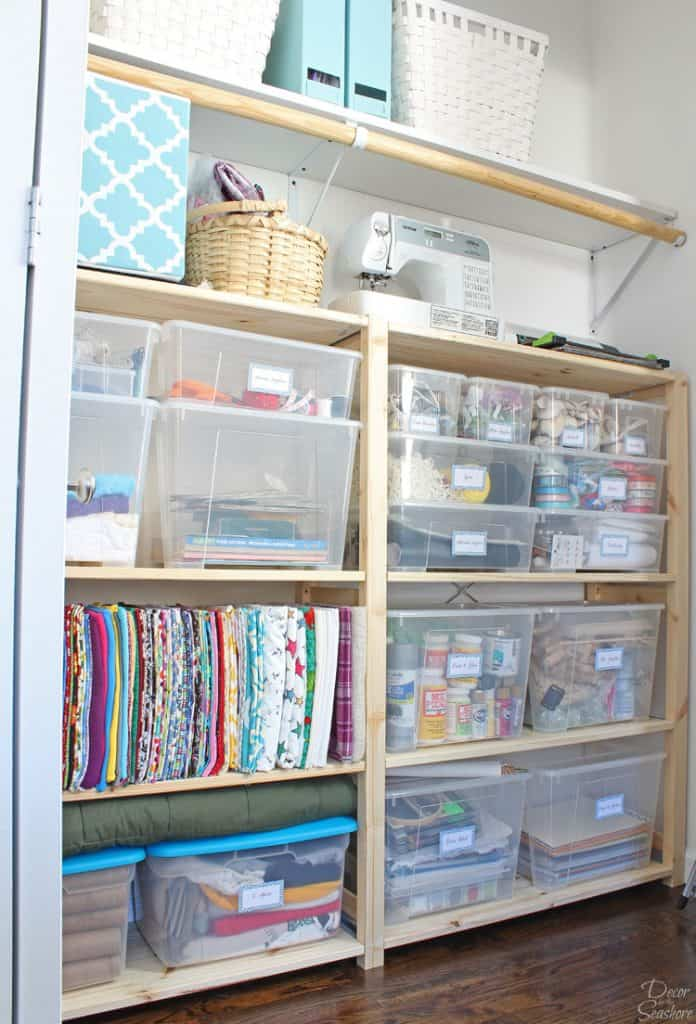Cheap Easy Closet Organization With Ikea Ivar Shelves Easy