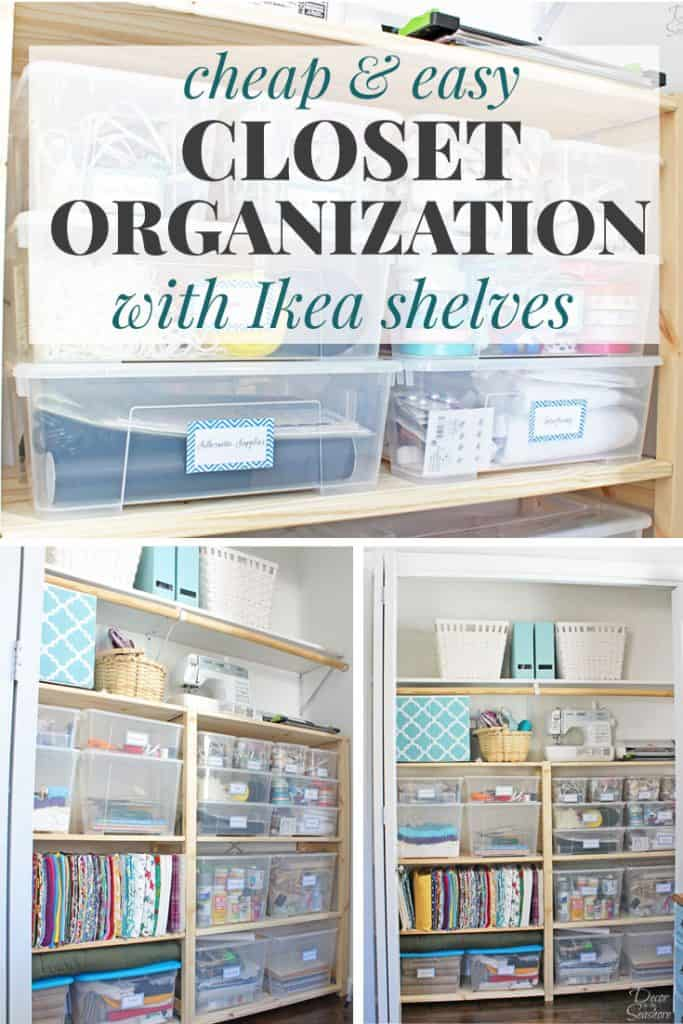 Cheap easy closet organization with ikea ivar shelves Cheap and easy organizing ideas