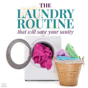 Don't spend entire days doing laundry! This easy laundry routine is perfect for everyone, including large families and working moms! Follow these laundry routine ideas and tips to say goodbye to laundry piles and clutter! | decorbytheseashore.com