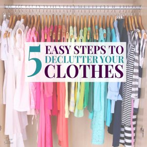 Thinking of decluttering your closet and starting a minimalist wardrobe? Follow these easy tips to declutter your wardrobe and organize your closet today! It's time to say goodbye to those old clothes that are cluttering up your closet. These organization ideas and tips will help you get rid of the clutter and figure out what you should actually keep in your wardrobe! #declutter #decluttering #declutterclothes #decluttercloset #declutterwardrobe #declutteringtips #organizingtips #organizeclothes
