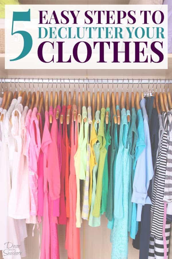 Declutter your clothes closet