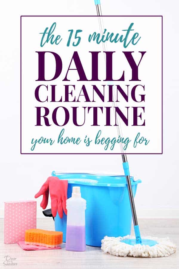 15 Minute Daily Cleaning Routine Header