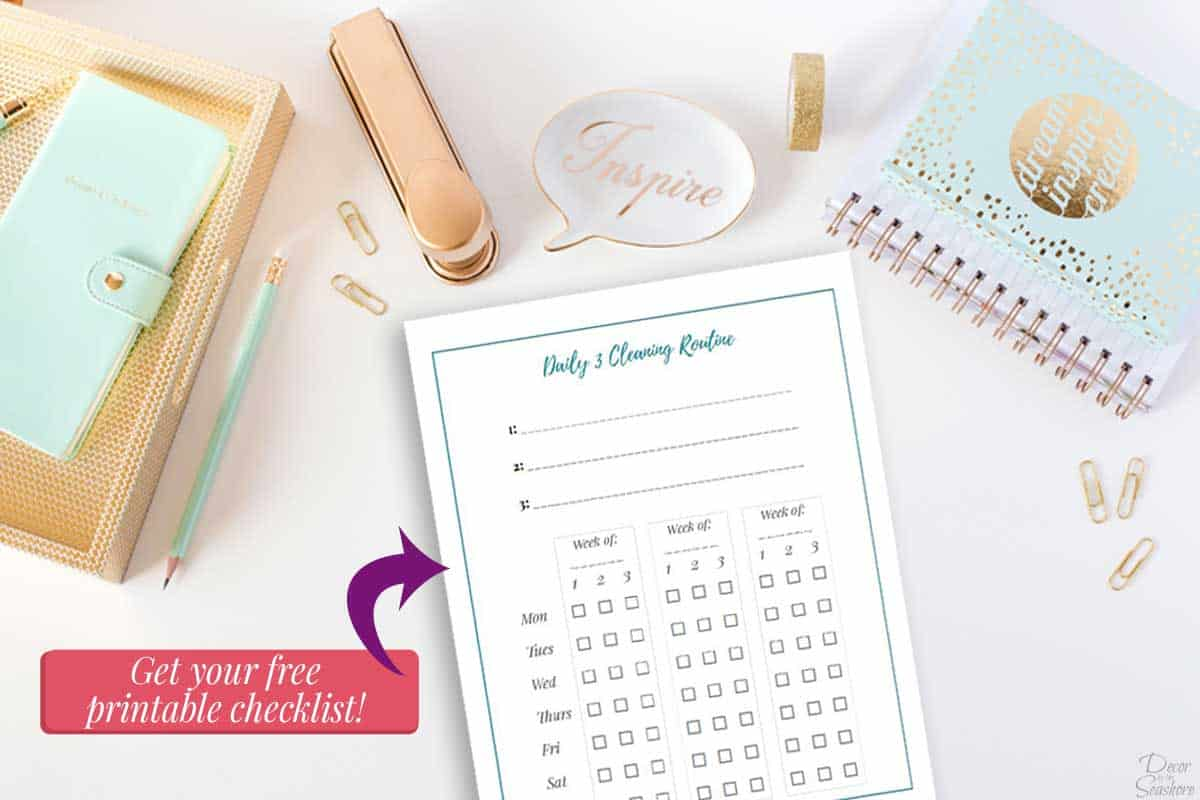 Free Printable Daily Cleaning Checklist
